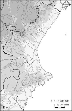 País Valencià físic blanc