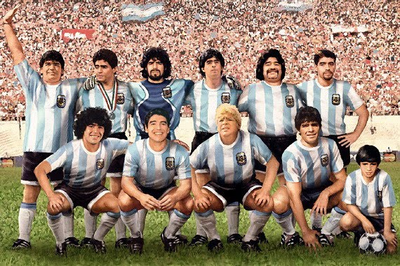 Amando a Maradona, Wallpaper
