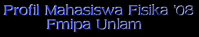 Profil Mahasiswa Fisika 2008