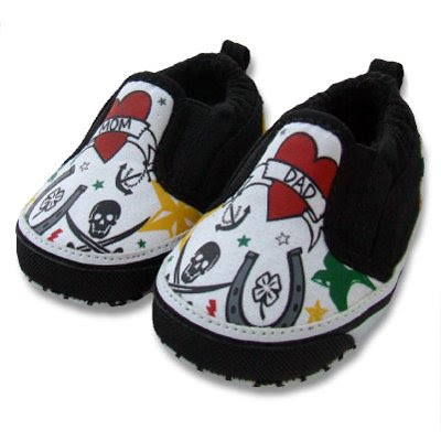 Dad Tattoo Baby Shoes