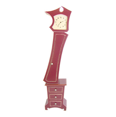 how to draw a grandfather clock