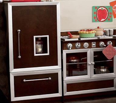 On the luxury stove or kitchen island these modern kids kitchen sets