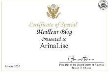 Très honorée, Président Obama!