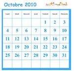 Ce mois d'octobre est très spécial.  Il contient 5 vendredis, 5 samedis et 5 dimanches, tous dans 1