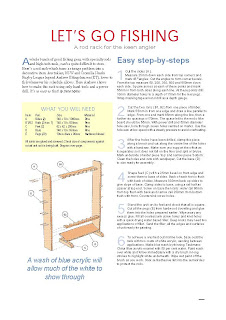 free woodworking plans: fishing rod holder