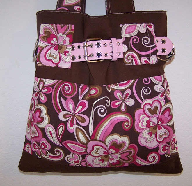 Handmade Purse Handbag Swirly Pink Butterflies, Hearts, Flowers