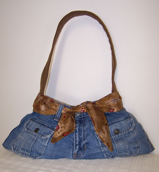 Denim Blue Jean Hipster Purse Country Hearts