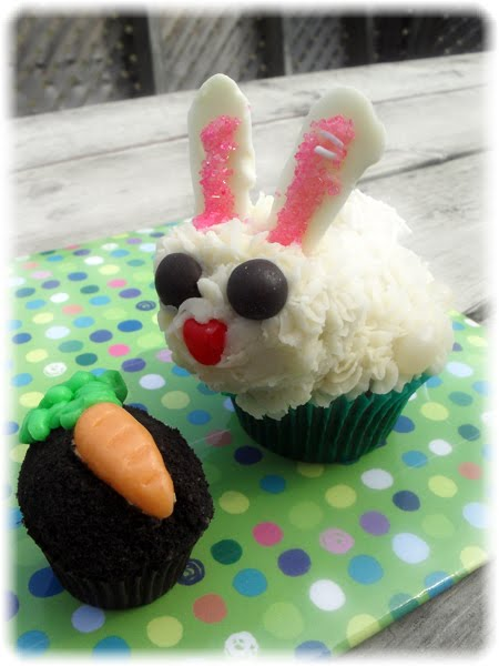 Bunny Carrot Garden Easter Cupcakes Easter Bunnies in The Carrot