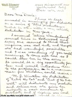 Letter from Walt to the Davis family