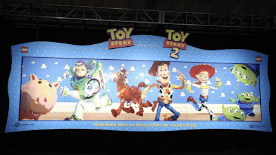 Toy Story mural in LEGO blocks