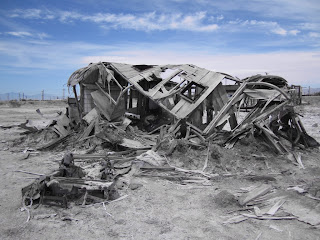 Bombay Beach - Ruined Trailer Home