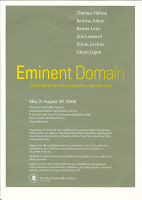 Eminent Domain Exhibition - At the New York Public Library