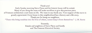 Card Notifying Neighbors of Move - Back