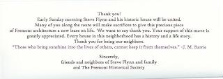 Card Notifying Neighbors of Move - Back - Fremont, Seattle