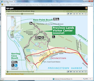 Map of Province Lands Bike Trails