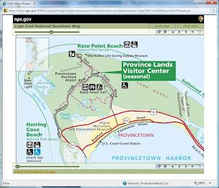 Map of Province Lands Bike Trails