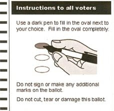 Ballot Instruction
