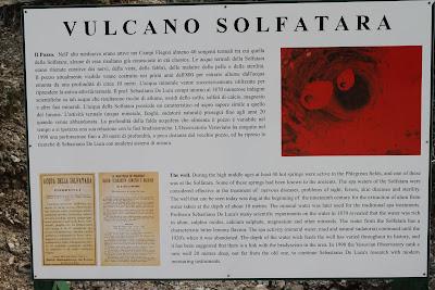Solfatara History Sign
