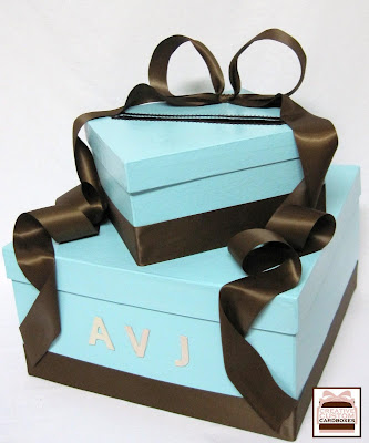 Card Box Creations Tiffany Blue and Chocolate