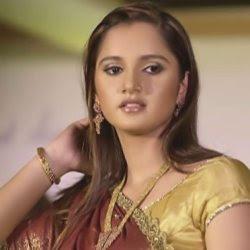 Sania Mirza wearing Indian Saree and beautiful pics