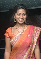 Smiling Actress Sneha in Saree photo