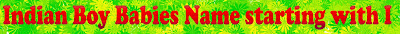 Male baby name list