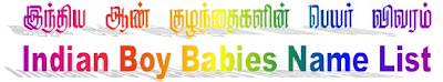 Alphabetic Indian boy babies names with meanings