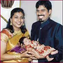 Tamil Actress-Actors Family Pics - Actress With her Child Images - Actress Family Photos - Actress Kids - Actress Babies Name Roja Selvamani Couple their baby Photos