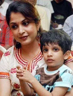 Ramya Krishnan And Her Son Ritwik photo