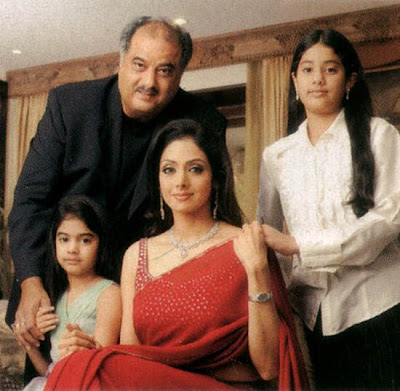 Sridevi Family with their two girl children
