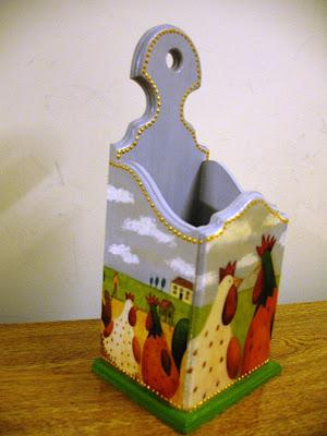 Los decoupage de lidia porta utensilios for Porta cucharas cocina