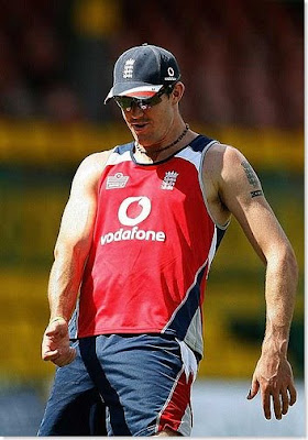 Kevin Pietersen playing in ground