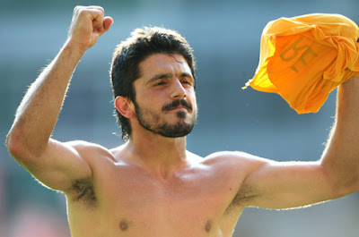 Hot Photo:Italian Footballer Gennaro Gattuso Shirtless
