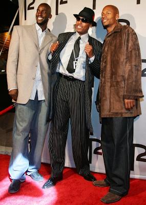 Kevin Garnett, Paul Pierce, and Ray Allen at Pierce