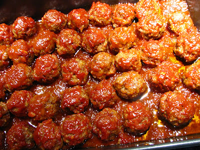 The Baked Barbecue Meatballs are easy to do in the oven and are hard ...