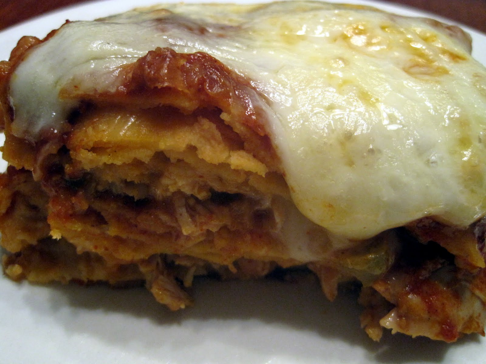 Lynda's Recipe Box: Stacked Chicken Enchiladas - an easy cassarole