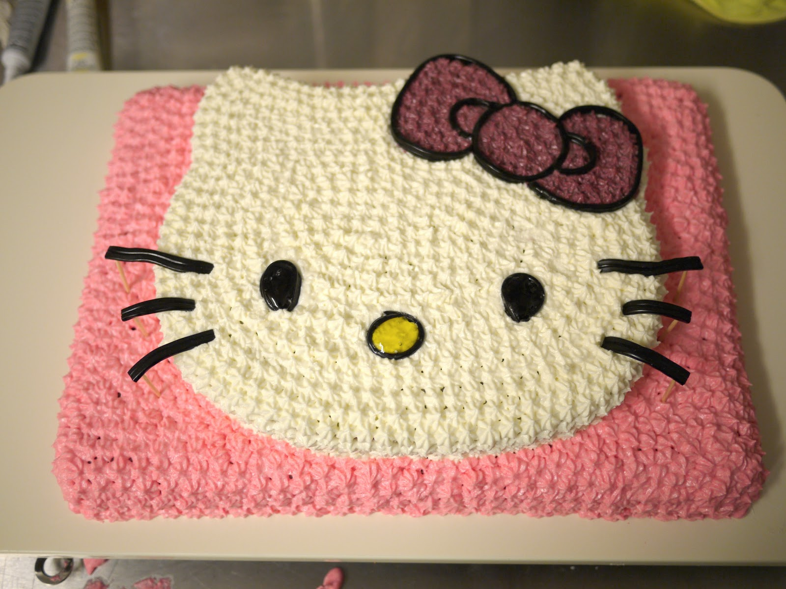 The Hello Kitty Cake How-to