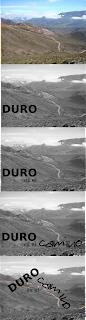 Secuencia de imágenes y texto representando a la frase Duro es el camino