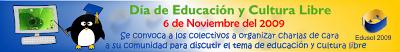 Banner encuentro Edusol 2009 Dia de la educacion y la cultura libre: Charlas presenciales previas al Edusol