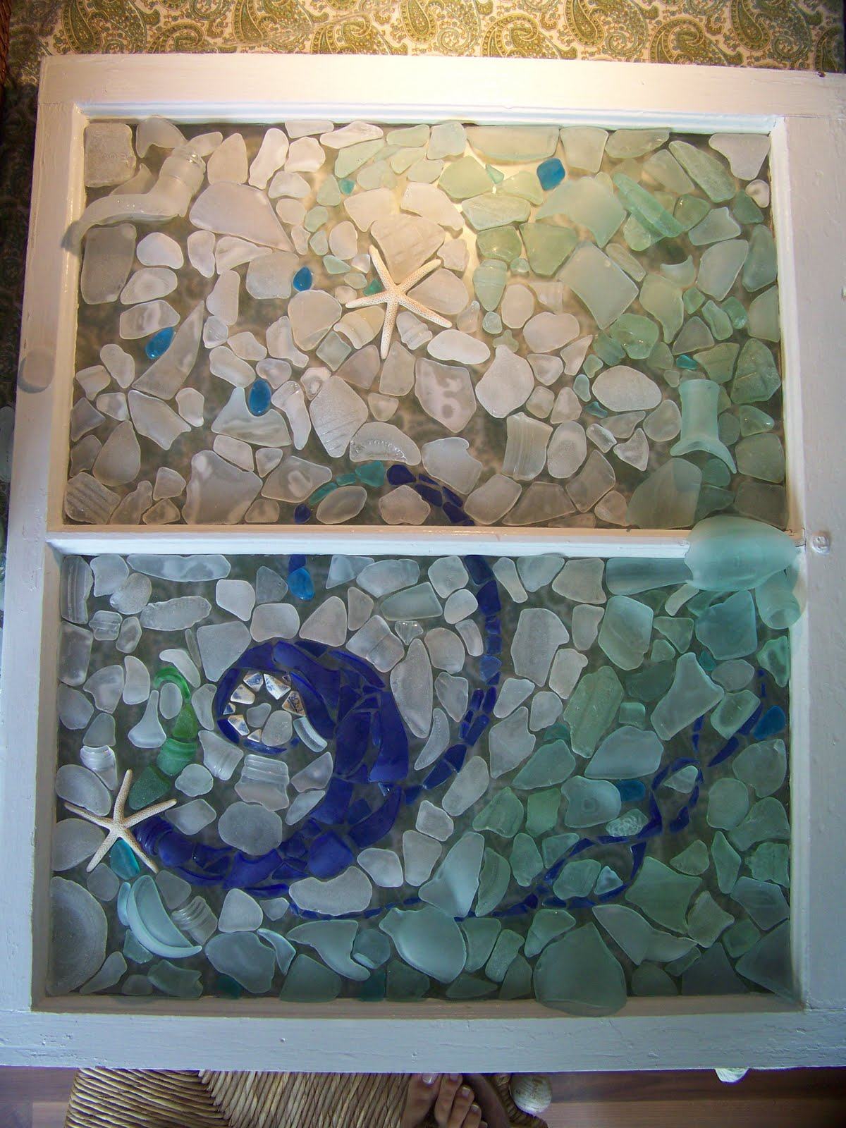 scarborough seashells: a new sea glass window