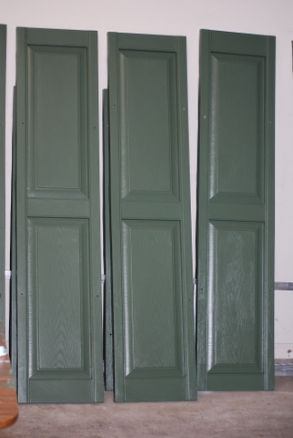 Do it yourself and save painting vinyl shutters a for Paint vinyl shutters