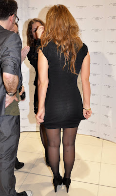 Kimberley Walsh In Black Nylons
