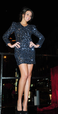 Michelle Keegan In A Sparkly Minidress