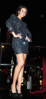 Michelle Keegan In A Sparkly Minidress
