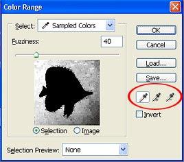 Gambar tutorial menyeleksi dengan Color Range 4