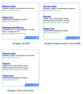 AdSense angles arrondis