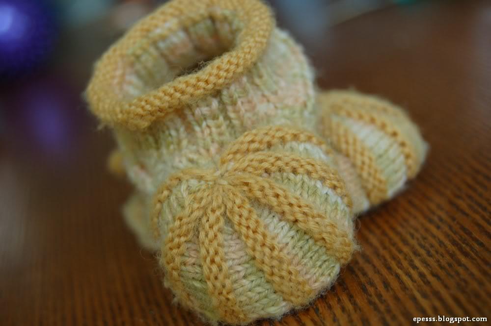 Мастер класс вязания пинетки зефирки
