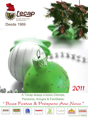 Cartão de Natal - Tecap