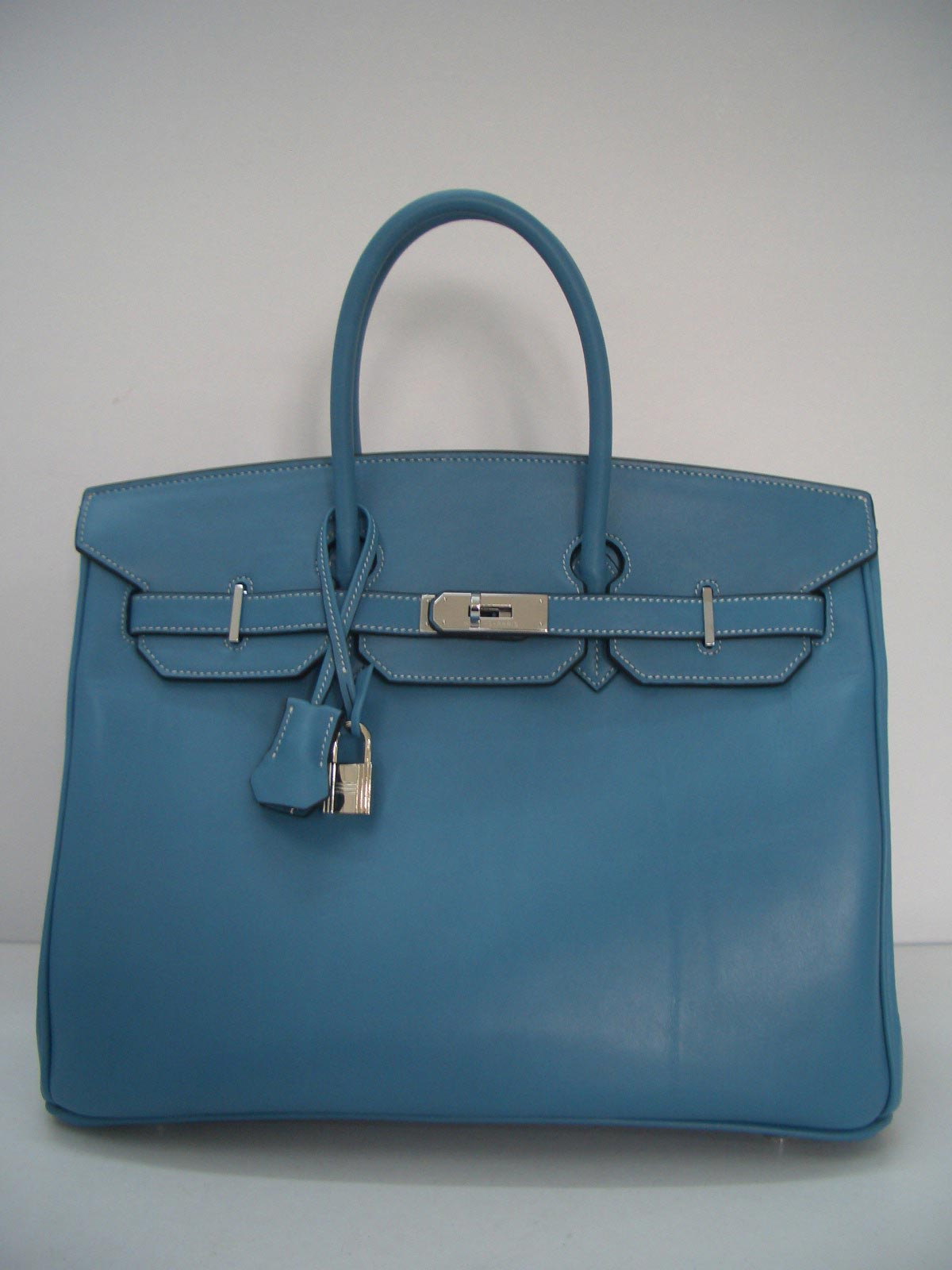 Hermes Birkin Box Calf Leather Box Calf Leather Blue