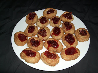 almond thumbprint cookies strawberry jam